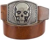 Lucien Pellat-Finet Leather Skull Belt