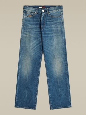 Tommy Hilfiger High Rise Straight Fit Crest Ankle Jeans