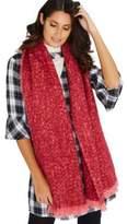 F&F Boucl Knit Tassel Trim Scarf, Women's