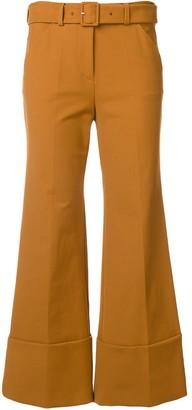 Sara Battaglia cropped trousers