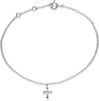 Agnes de Verneuil Tiny Cross Bracelet - Silver