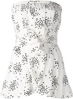 C/Meo printed strapless playsuit - women - Polyester/Viscose - S