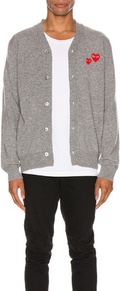 Comme des Garcons Multiheart Cardigan in Grey   FWRD