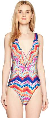 Hobie Junior's Strappy Front High Leg One Piece Swimsuit