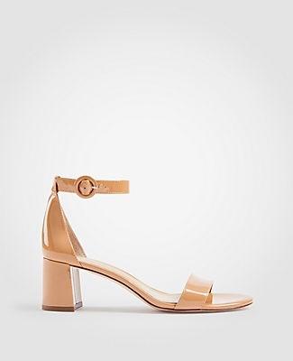 Ann Taylor Nicole Patent Block Heel Sandals