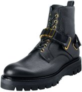Versace Men's Leather Ankle Boots Shoes