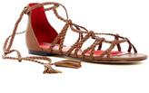 Charles Jourdan Iggy Woven Wrap-Around Sandal