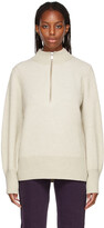 Thumbnail for your product : Won Hundred Delaney Balloon Sleeve Half-Zip Sweater