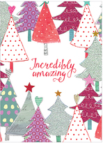 'Incredibly Amazing' Colorful Trees Christmas Card - Set of 20
