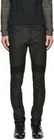 Belstaff Black Coated Eastham Biker Jeans