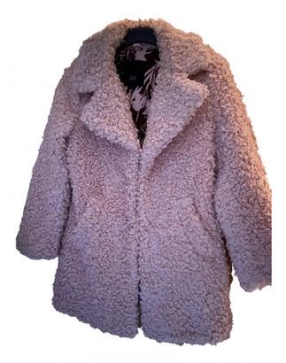 River Island Pink Faux fur Coats