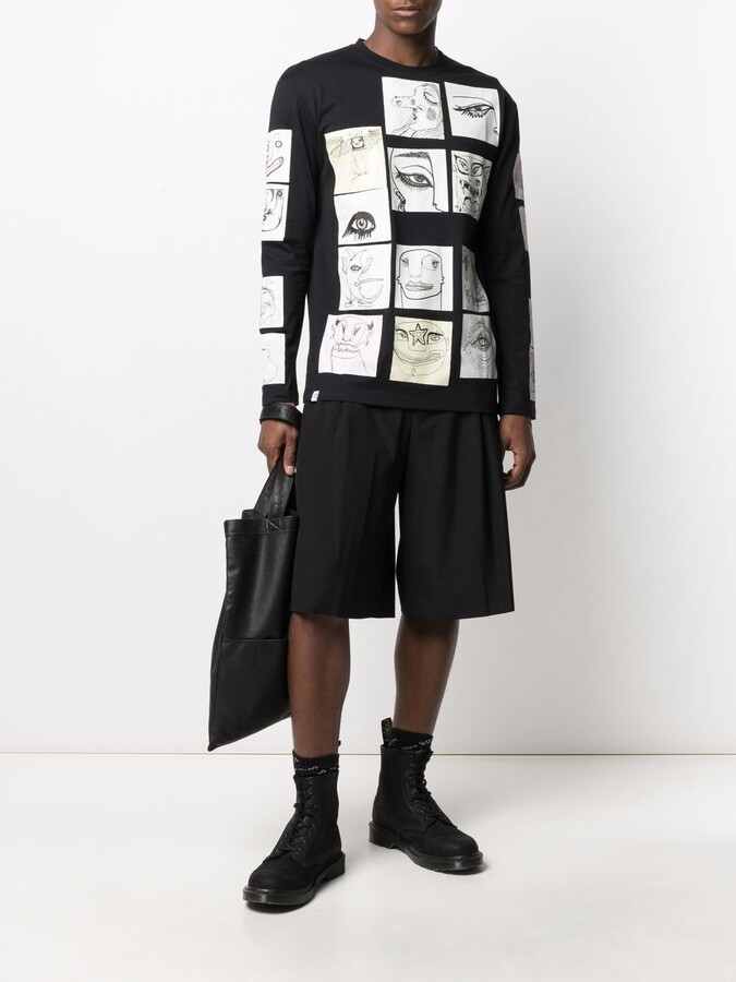 Thumbnail for your product : Charles Jeffrey Loverboy Patch-Detail Crew Neck Sweatshirt