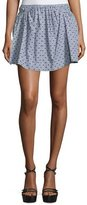 See by Chloe Dot-Print Mini Skirt, Gray/Multi
