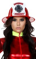 Forplay Women's Fireman Hat with Sticker Applique