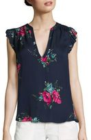 Joie Mirabelle Silk Floral-Print Top