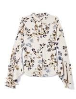 Vince Camuto Floral-print Cascade-sleeve Blouse