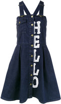 House of Holland denim dungaree dress - women - Cotton/Polyester - L
