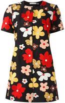 Alice + Olivia Alice+Olivia - flower embroidered shortsleeved jacket - women - Cotton/Polyester/Spandex/Elastane - XL