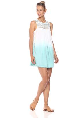 En Creme Women's Aqua Ombre Sleeveless Dress