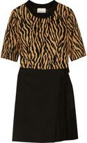 3.1 Phillip Lim Silk-trimmed lace and wool-twill mini dress