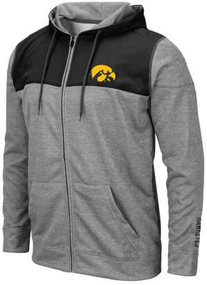 Colosseum Men Iowa Hawkeyes Nelson Full-Zip Hooded Sweatshirt