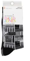 David Jones 2pk Cityscape Fashion Crew