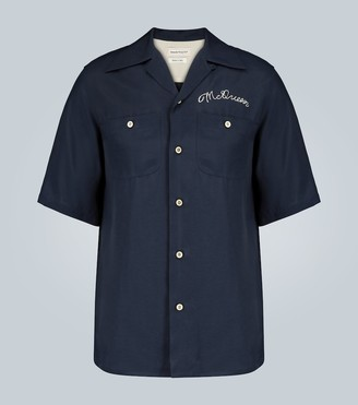 Alexander McQueen Camp-collar short-sleeved shirt