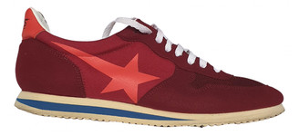 Golden Goose Burgundy Suede Trainers