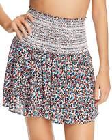 Tory Burch Wildflower Smocked Skirt Swim Cover-Up