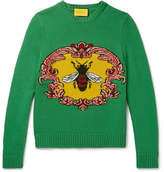 Gucci Jacquard-Knit Wool Sweater