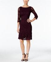 Calvin Klein Lace Pleated Sheath Dress