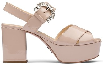 Prada Platform Heeled Sandals
