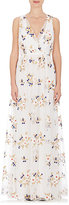 Nina Ricci WOMEN'S BOUQUET-EMBROIDERED TULLE GOWN