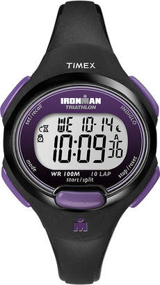 Timex Womens Black Resin Strap 10-Lap Watch T5K5239J