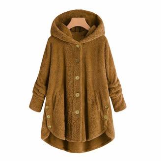 Willtop Flannel Hoodie Blanket Dress Ultra Soft Sherpa Long Sleeve Fleece Sleepwear Warm Cosy Comfy Button Oversized Coat Wearable Giant Hoody Sweatshirt Nightwear for Women Homewear Loungewear Pyjamas Set