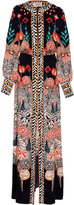 Temperley London Blaze Multi-Printed Silk Dress