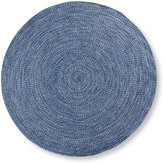 L.L. Bean All-Weather Braided Rug, Round Concentric Pattern