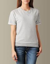 True Religion Womens Short Sleeve Fleece Top - (Grey Melange)