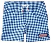 Vineyard Vines Kids Printed Gingham Chappy Trunks (Toddler/Little Kids/Big Kids) (Azure Blue) Boy's Swimwear