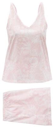 Derek Rose Ledbury 42 Floral-print Cotton-batiste Pyjamas - Pink Multi