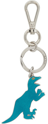 Paul Smith Silver and Blue Dino Keychain