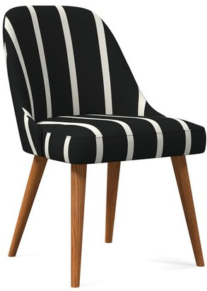 west elm Mid-Century Upholstered Dining Chair - Wood Legs
