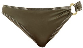 Solid & Striped The Mimi Metallic Bikini Briefs - Khaki