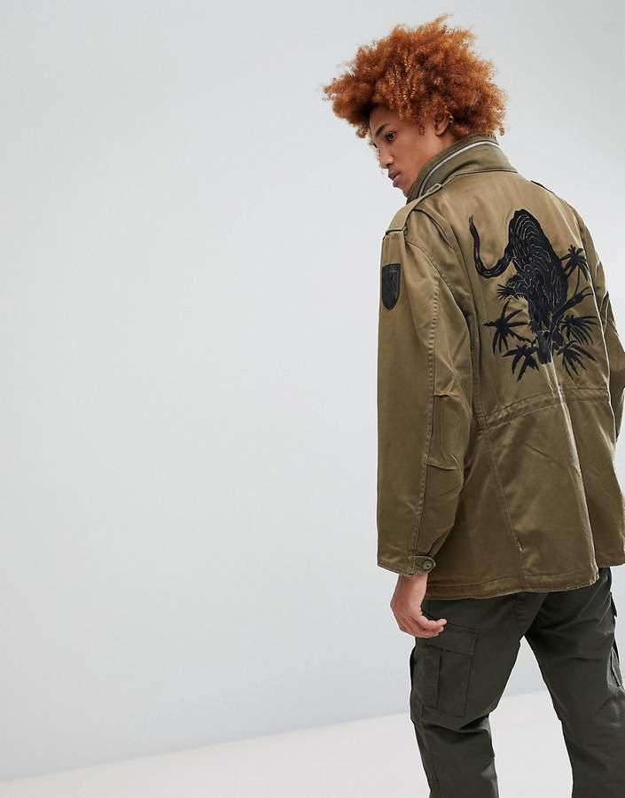 MHI Upcycled Tiger Print M65 Jacket