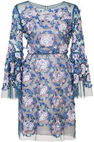 Marchesa floral embroidered dress - women - Nylon/Polyester - 0