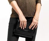 "Oasis Leather Cross-Body Clutch [span class=""variation_color_heading""]- Black[/span]"