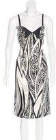 Just Cavalli Printed Midi Dress w/ Tags