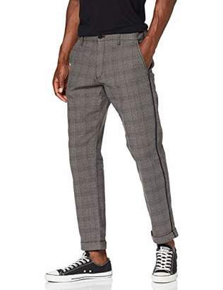 S'Oliver Q/S designed by Men's 40.909.73.2193 Trousers, (Black Check 99N0), W(Size: 30)