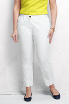 Classic Women's Plus Size Mid Rise Chino Crop Pants-Venetian Blue Stripe