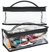 SHANY Clear Travel Makeup Bag - Cosmetics Organizer - Road Trip